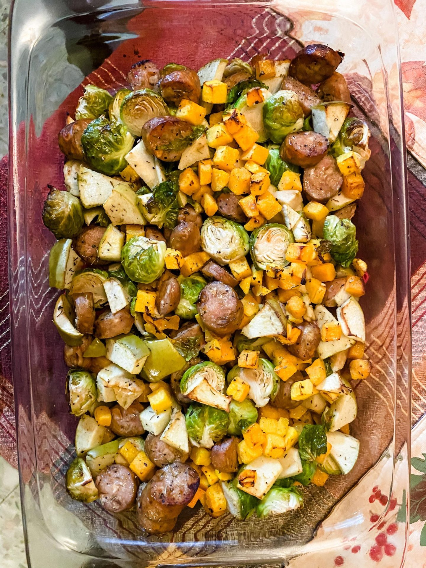 Fall Foods to Make include Sheet Pan Chicken Apple Harvest Hash. (c) MemoriesAndWords